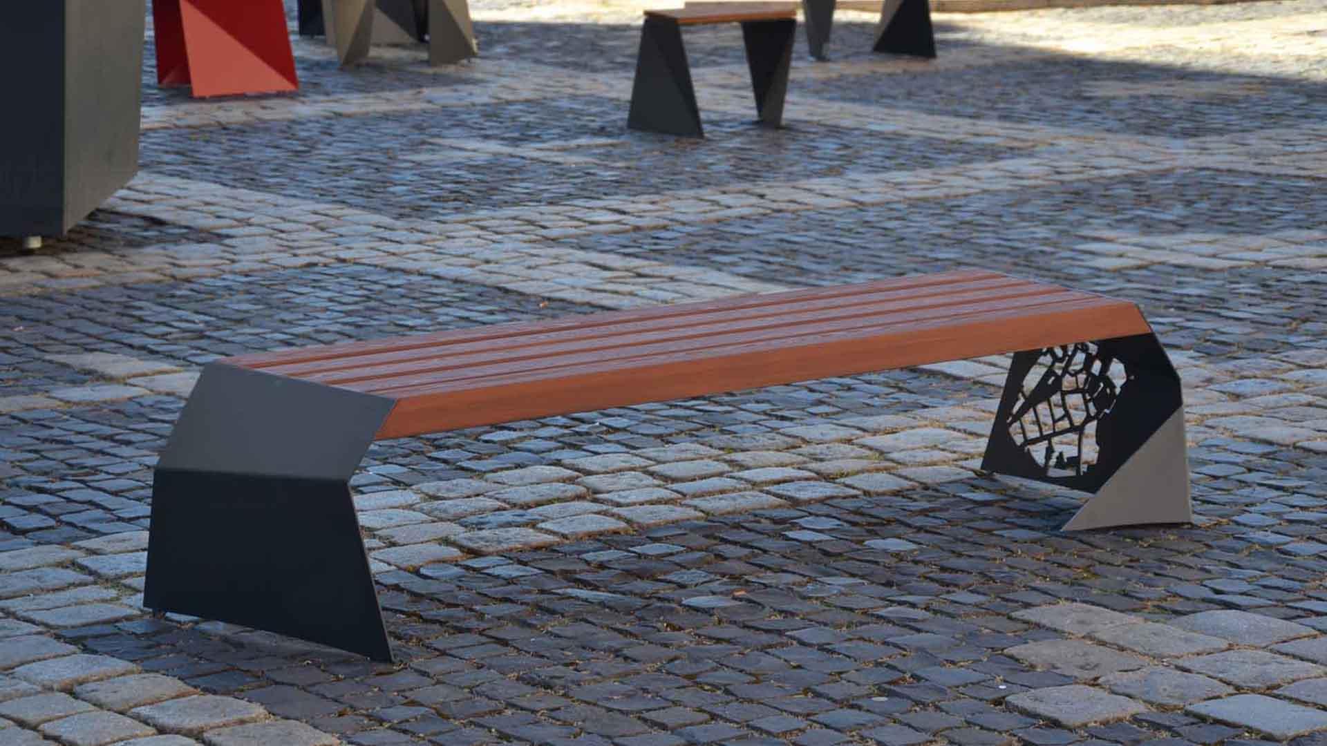 instalace na náměstí v Chebu