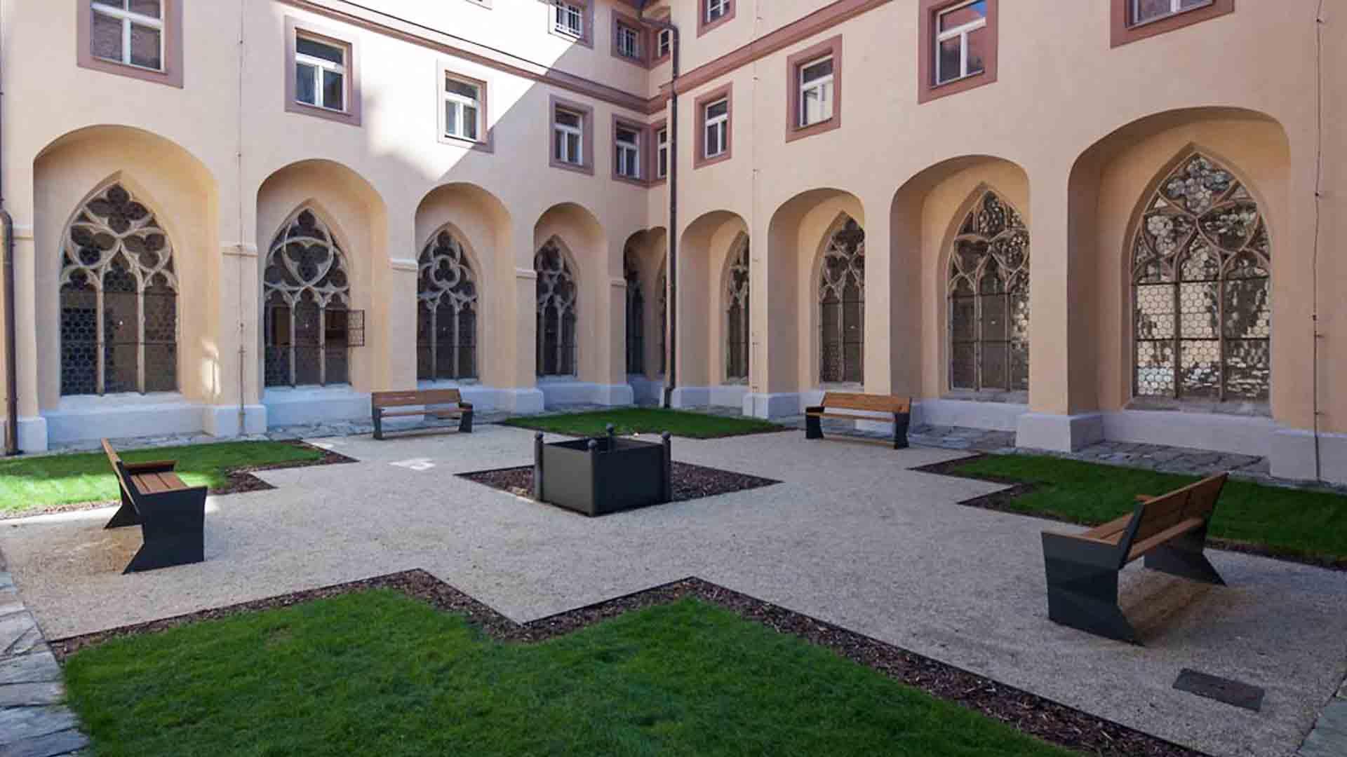 klášterní zahrady Cheb