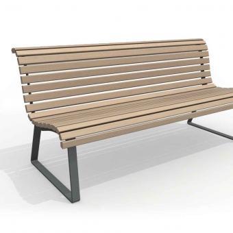pohled na lavici