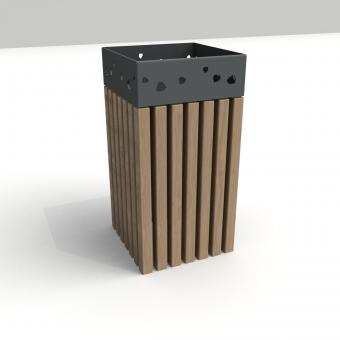 koš briza v provedení s dřevem